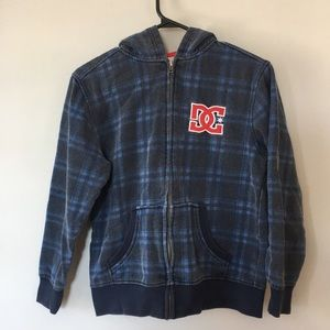 3/$20 DC Shoes Boys Hoodie Size L (10/12) Zip-up